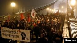 Протесты в Будапеште 13 декаря