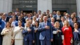 UKRAINE – People's deputies of Ukraine photographed in memory of work in the Verkhovna Rada of the VIII convocation. Kyiv, July 11, 2019