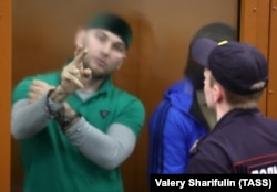 Shadid Gubashev in the Moscow District Military Court for sentencing on July 13, 2017