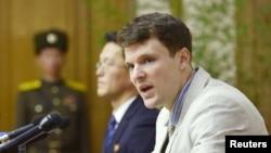 Отто Вормбир в суде в КНДР