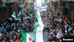 Антиправительственный протест в Алеппо, 11 марта 2016