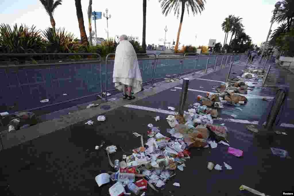 Ницца утром 15 июля после ночного теракта