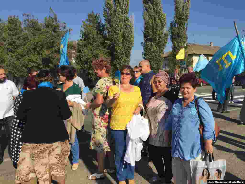 Среди участников акции жители Новоалексеевки и других населенных пунктов Херсонской области