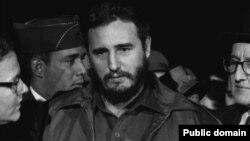 Фидель Кастро во время визита в Вашингтон. 1959 год