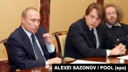 Константин Эрнст на встрече с Владимиром Путиным