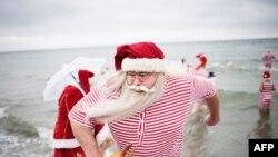 Санта-Клаусы собрались в Копенгагене на ежегодный Конгресс