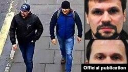 Предполагаемые агенты ГРУ Петров и Боширов на улицах Солсбери