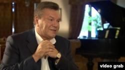 Виктор Янукович дает интервью ВВС в июне 2015 года