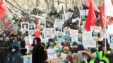 RUSSIA – FEBRUARY 3, 2019: A rally against new solid waste landfills in the Russian North, dumps sites for Moscow rubbish and for waste sorting and recycling