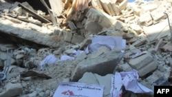 Разбомбленный гуманитарный госпиталь в сирийской провинции Идлиб (15 февраля 2016 года)