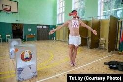 Алексей Кузьмич на избирательном участке