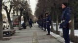 Kazakhstan -- the National Guard warriors near Astana squire in Almaty. 22Feb2020