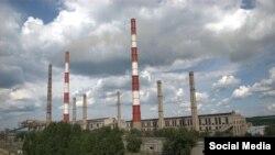 Луганская ТЭС в поселке Счастье