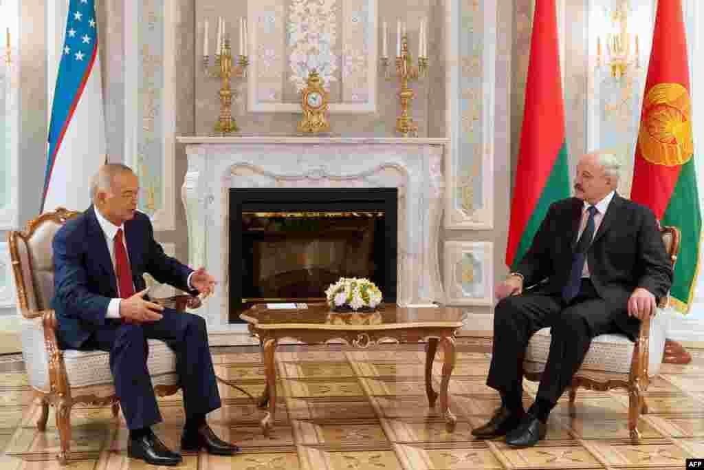Лидеры Узбекистана и Белоруси Ислам Каримов и Александр Лукашенко