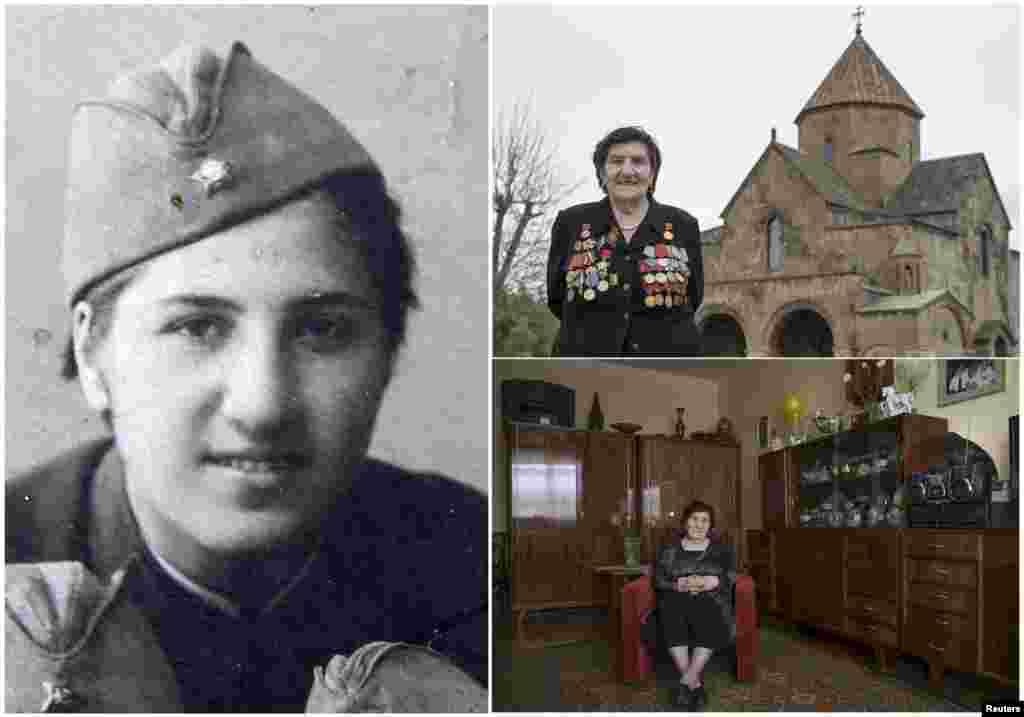 Розалия Абгарян, 92. Армянка служила в пехотном подразделении Красной Армии с апреля 1941 по декабрь 1945. Принимала участие в освободительном Пражском Восстании