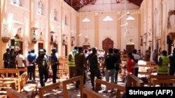 Церковь св. Себастьяна в Негомбо после взрыва. Фото: Reuters