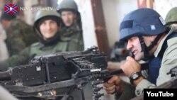 Михаил Пореченков в Донецком аэропорту. 30 октября 2014 года