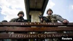 Национальная гвардия на страже порядка. Балтимор, 28 апреля 2015