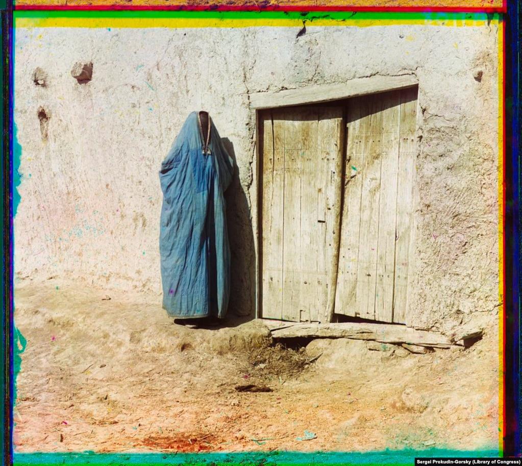 Женщина в парандже, Самарканд
