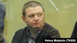 Вячеслав Цеповяз на суде над бандой Цапков