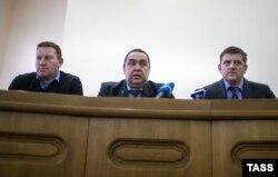 Геннадий Цыпкалов, Игорь Плотницкий и Алексей Карякин, 17 ноября 2014