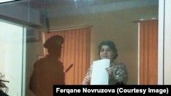 Хадиджа Исмайлова на апелляционных слушаниях в Баку по поводу своего приговора