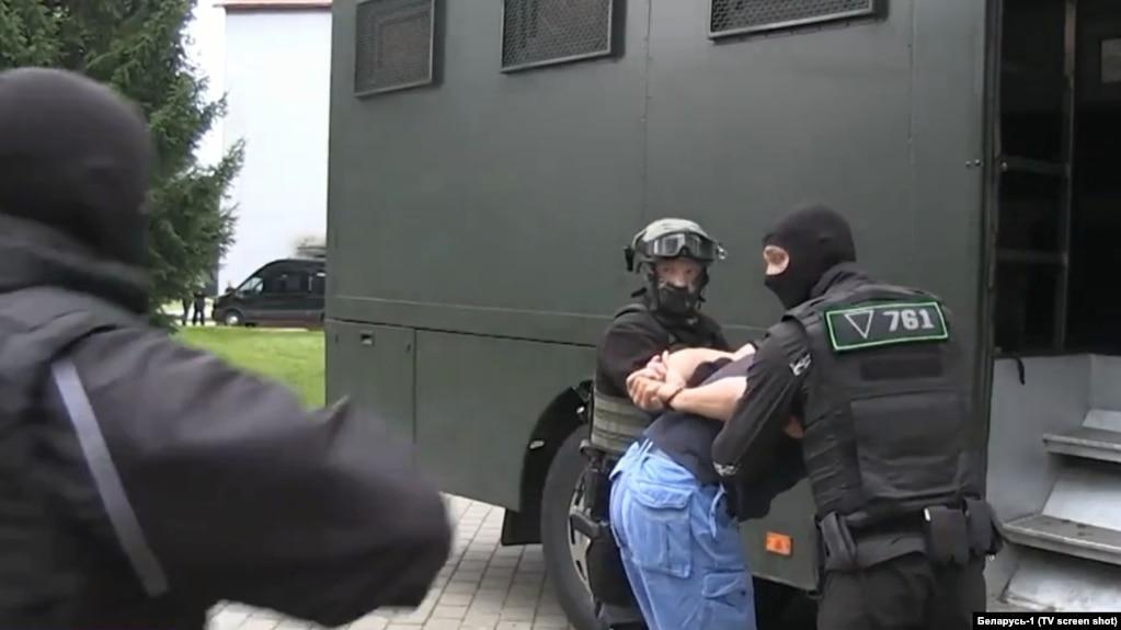 """Кадры задержания """"российских боевиков"""""""