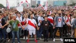 Акция протеста в Минске, 23 августа 2020 года