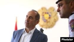 Роберт Кочарян в зале суда в Ереване