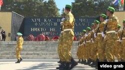 Военный парад в Душанбе 9 мая 2017 года
