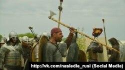 """Реконструкторы из клуба """"Наследие Руси"""""""
