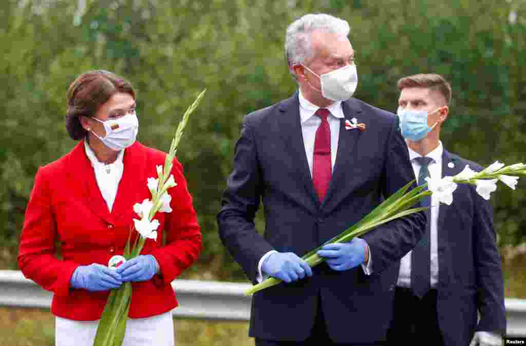 Президент Литвы Гитанас Науседа и его жена Диана Науседене