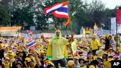 """Протесты """"желторубашечников"""" против Таксина Чинавата"""