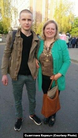 Александр Коржич с матерью