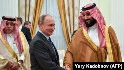 Владимир Путин и принц Саудовской Аравии Мохаммед ибн Салман