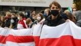 Студенты Белорусского государственного университета на акции протеста, 26 октября 2020 года