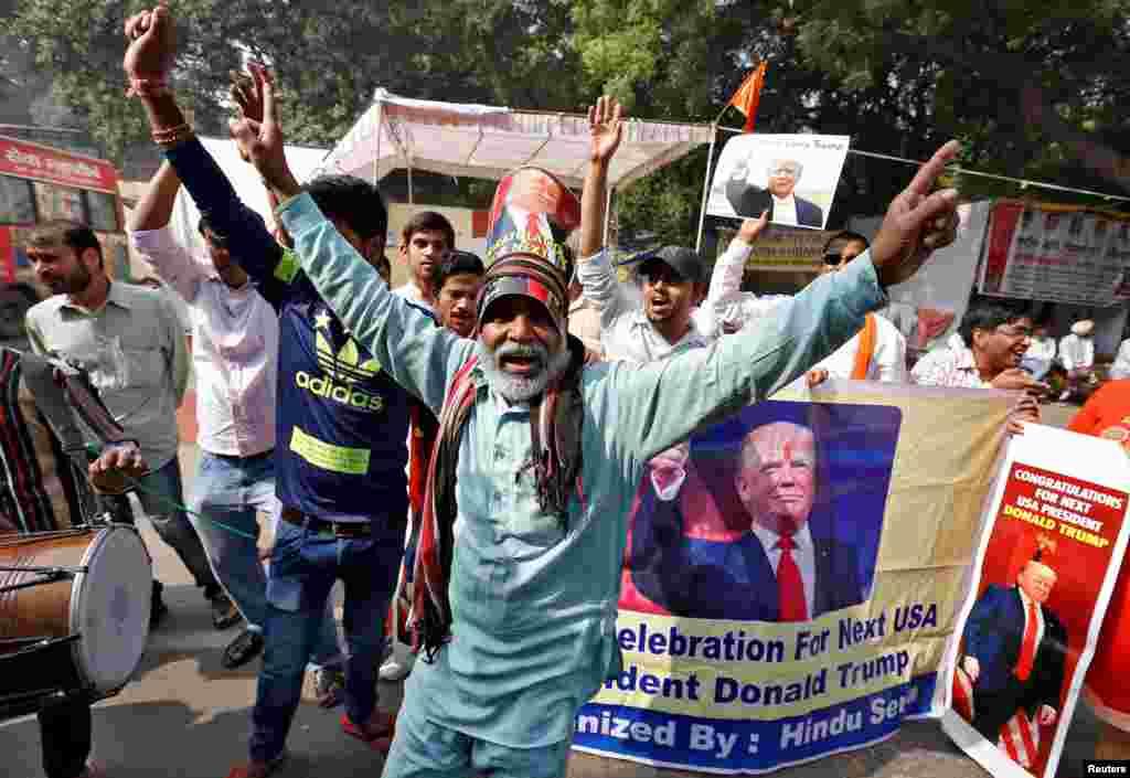 """Члены право-националистической индуистской общины в Америке встретили победу с восторгом. Для них республиканский кандидат – единственный """"спаситель человечества от исламского террора"""""""