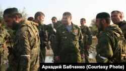 """Командир батальона """"Восток"""" Сулим Ямадаев в Южной Осетии во время войны 2008 года. Сулима Ямадаева убили в Дубае в 2009 году"""