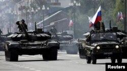 Российские военные в Южно-Сахалинске