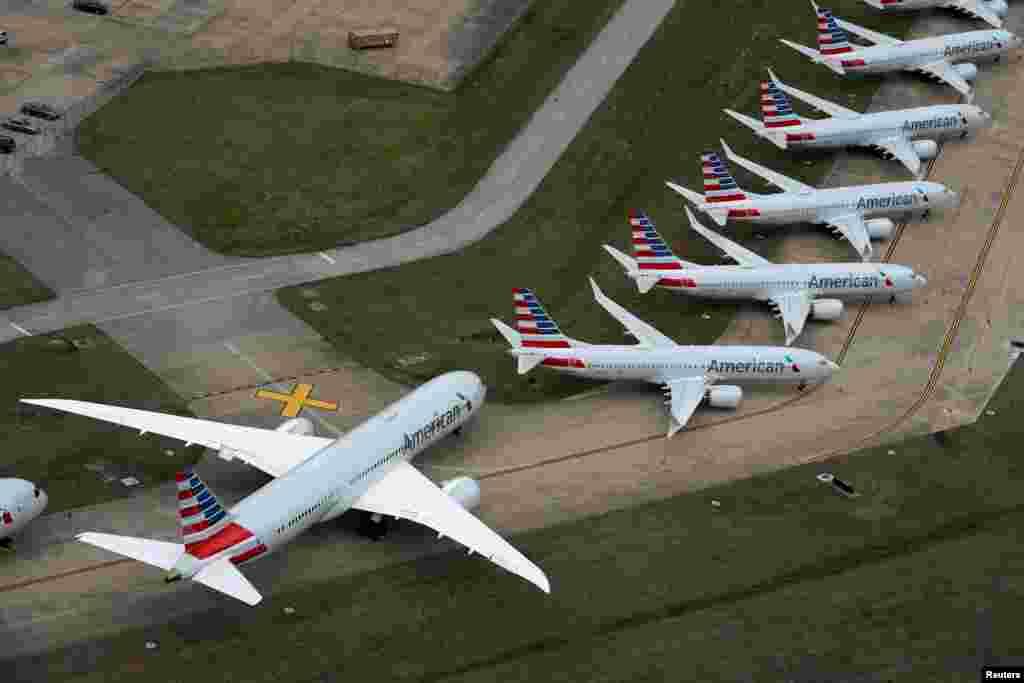 Международный аэропорт в Талсе, США. 23 марта 2020 года