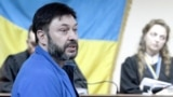 UKRAINE – RIA Novosti Ukraine news agency editor-in-chief Kirill Vyshinsky accused of high treason and arms trafficking attends a hearing at Kyiv's Podolsky District Court. Kyiv, 19 July 2019