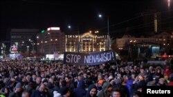 Марш в Гданьске против насилия после убийства Павла Адамовича