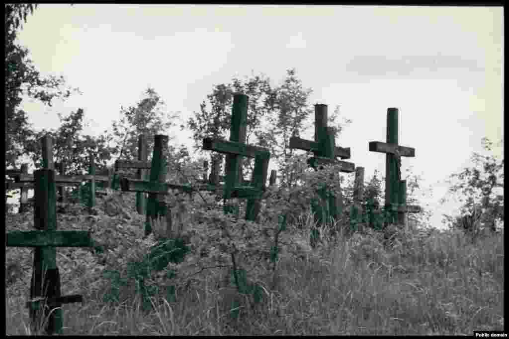 Сельское кладбище в деревне Цмень Столинского района Брестской области