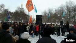 Участники митинга против репрессий
