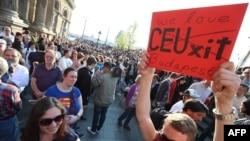 Демонстрация в поддержку ЦЕУ. 2 апреля 2017 года