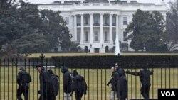 Падение беспилотника на территории Белого Дома в Вашингтоне, январь 2015 г