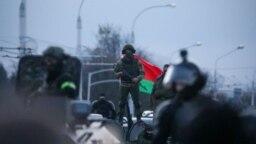 Силовики в центре Минска перед началом акции