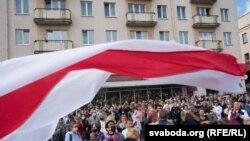 Протестующие в Гродно, 6 сентября 2020 года