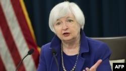 Глава Федеральной резервной системы США Джанет Йеллен. Вашингтон, 16 декабря 2015 года.