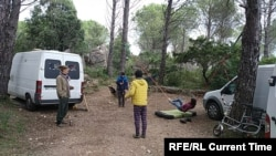 Лагерь на острове